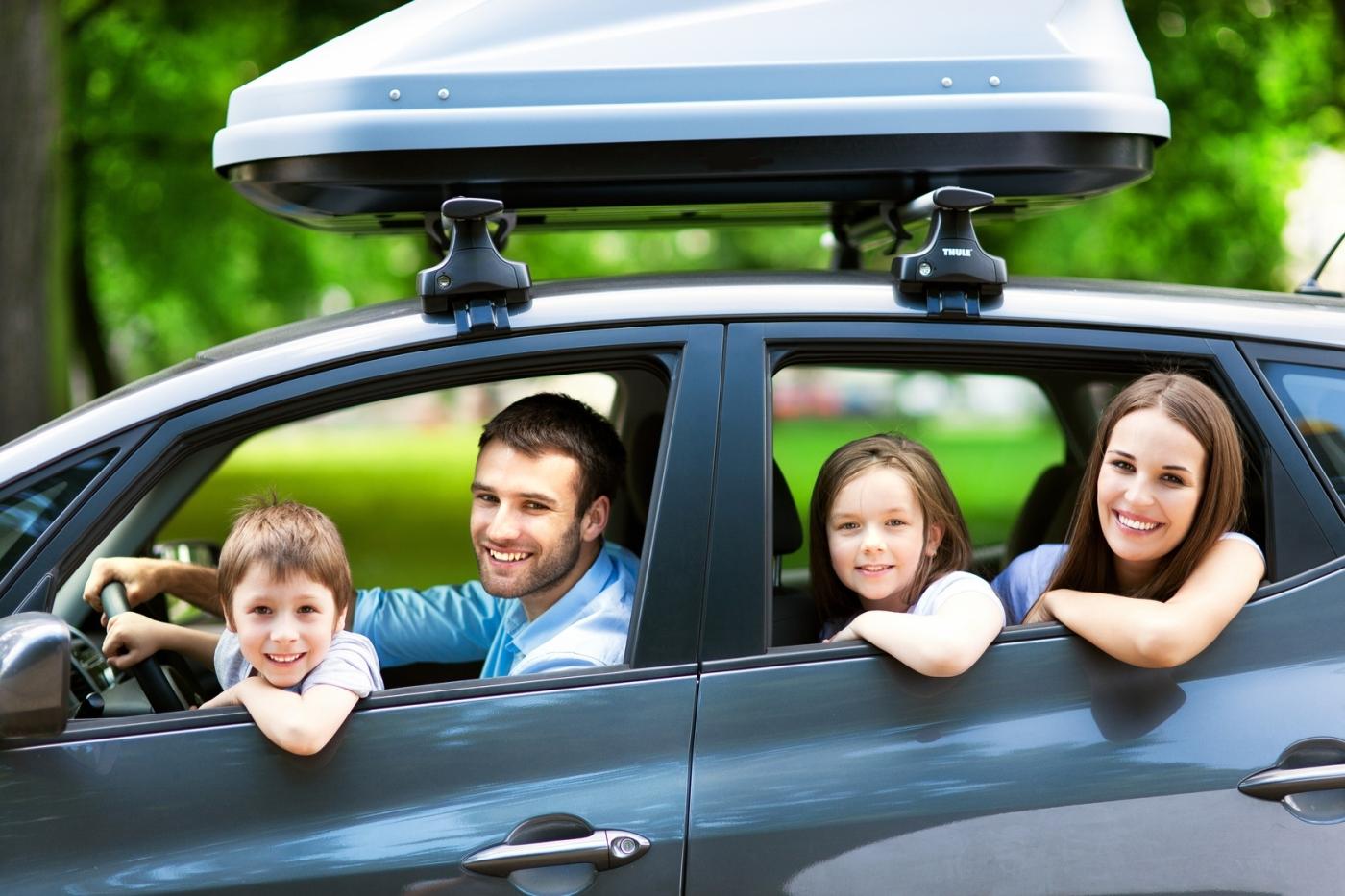 samochód na wakacje, rodzinny wyjazd