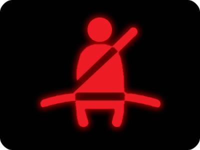 czerwona kontrolka pasy bezpieczeństwa
