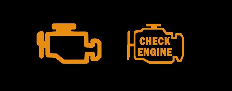 kontrolka silnika, żółta kontrolka w samochodzie