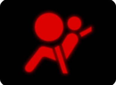 czerwona kontrolka srs
