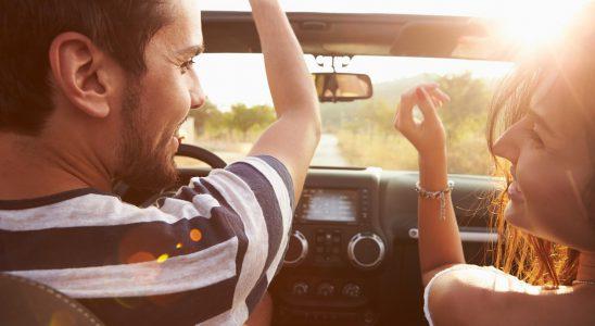 letnia przejażdżka samochodem